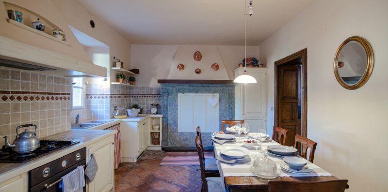 La zona cucina con camino decorativo - Charming House Bice