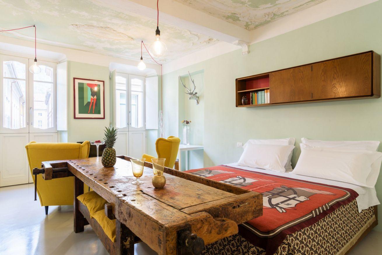 Camera matrimoniale della Suite Luxury Duomo