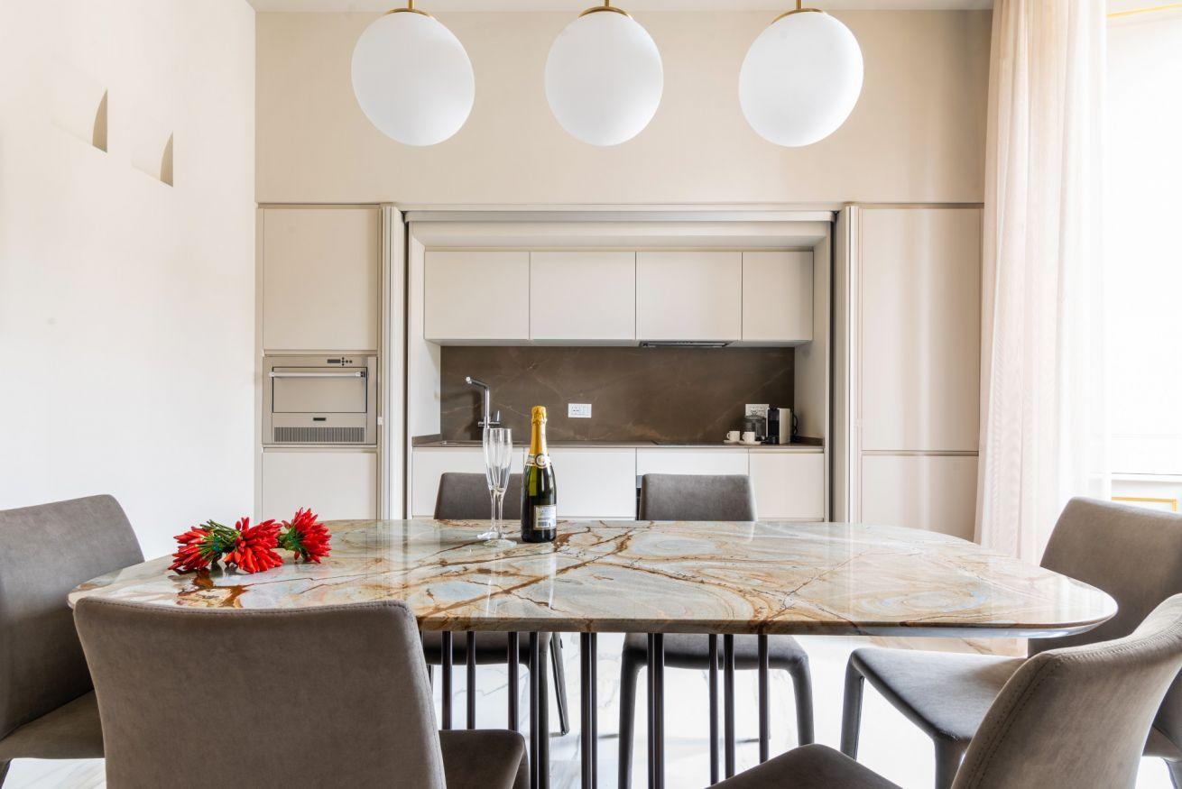La cucina raffinata di della Suite Ivory