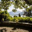 la vista del lago di Como dal giardino - Luxury Villa Tremezzo