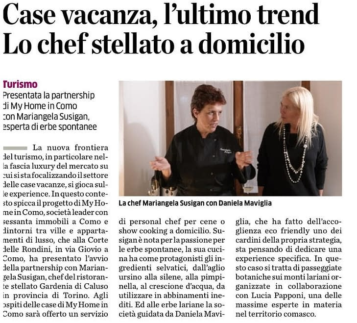 My Home in Como Article