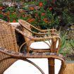 Poltroncine in vimini e legno con cuscini - Zighidì Bellavista