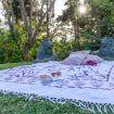 pratica aria zen con tappeto e cuscini - Giardino di Michela