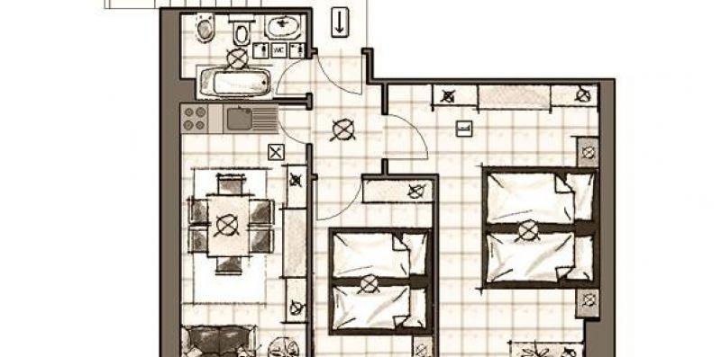 Appartamento Trilocale Albula  presso Maison Ostaria  - My Holiday Travel Agency Livigno